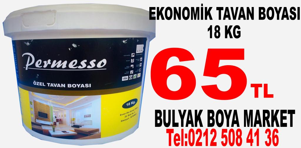 Ucuz Tavan Boyası 18 KG İstanbul